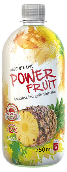 Absolut-Live PowerFruit diabetikus üdítők #Ananász 750ml