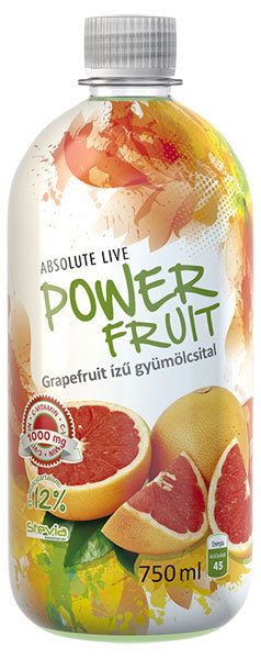 Absolut-Live PowerFruit diabetikus üdítők #Grapefruit 750ml