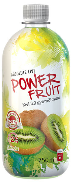 Absolut-Live PowerFruit diabetikus üdítők #Kiwi 750ml