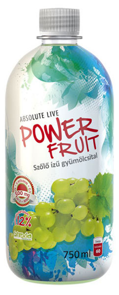 Absolut-Live PowerFruit diabetikus üdítők #Szőlő 750ml