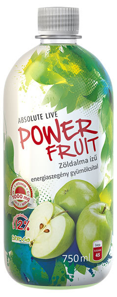 Absolut-Live PowerFruit diabetikus üdítők #Zöldalma 750ml