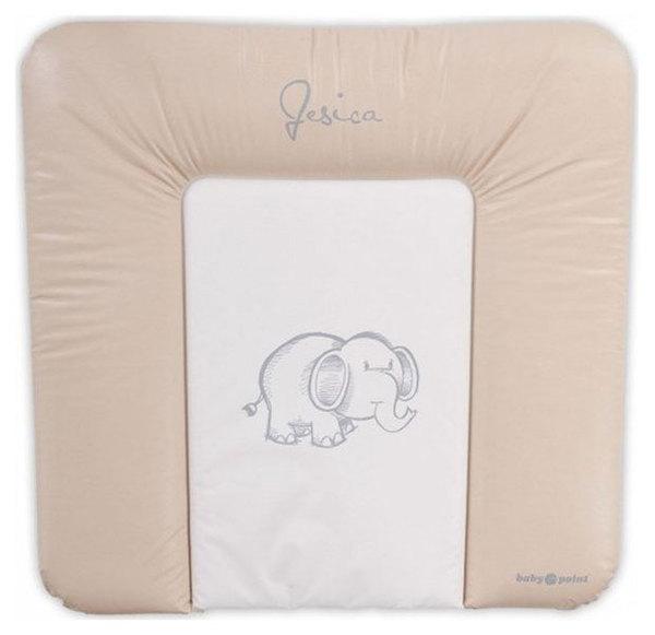 BabyPoint Jessica pelenkázólap 70x70 #bézs elefántos