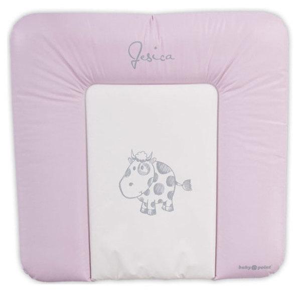 BabyPoint Jessica pelenkázólap 70x70 #rózsaszín tehenes