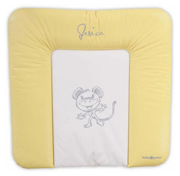 BabyPoint Jessica pelenkázólap 70x70 #sárga majmos