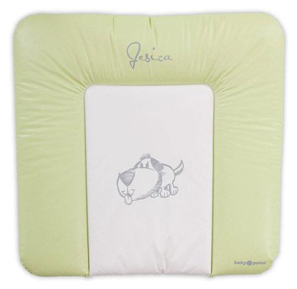 BabyPoint Jessica pelenkázólap 70x70 #zöld kutyusos