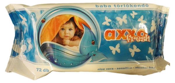 Axxo Fresh baba törlőkendő visszazárható #72db-os