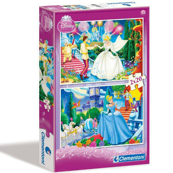 CLEMENTONI Puzzle 2x20 Hamupipőke #07001