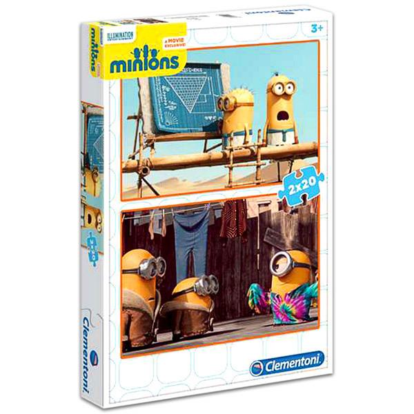 CLEMENTONI Puzzle 2x20 Minyonok #07018