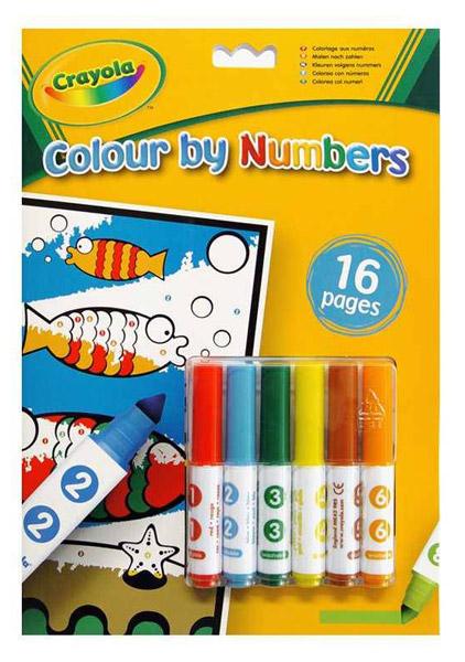 Crayola 16 lapos szám szerinti kifestő #7321