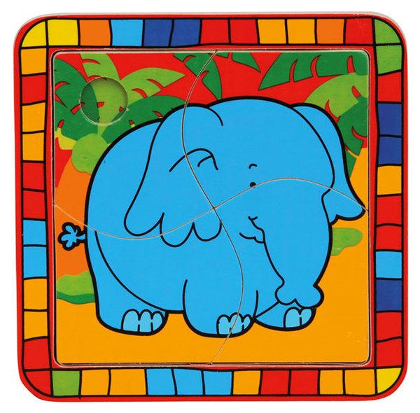 Bino Bébi puzzle fa Elefánt #BM88003