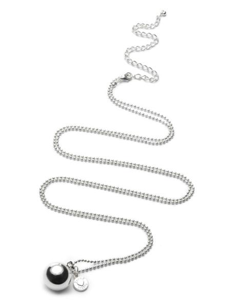 BABYBELL Ballchain nyaklánc gömb ezüst #ID234