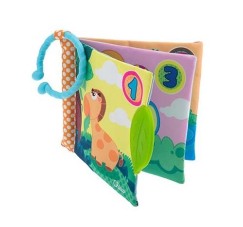 Chicco Textilkönyv rágókás 1-2-3 #CH072376