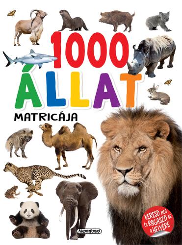 Könyv - 1000 állat matricája Fehér