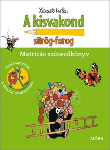 Könyv - A Kisvakond sürög-forog - matricásfüzet