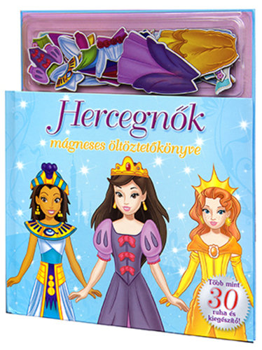 Könyv - Hercegnők mágneses öltöztetőkönyve