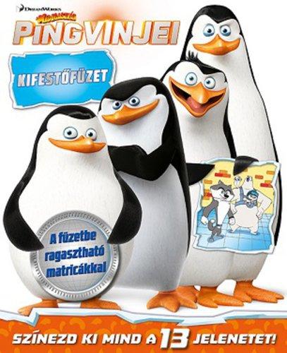 Könyv - Madagaszkár pingvinjei - kifestőfüzet