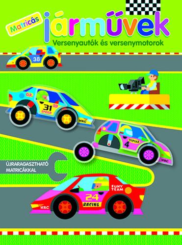 Könyv - Matricás járművek - Versenyautók és versenymotorok