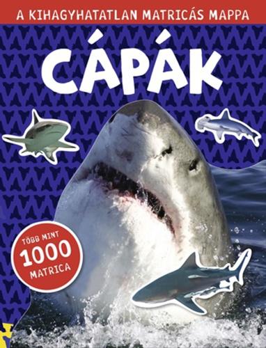 Könyv - Matricás mappa - Cápák