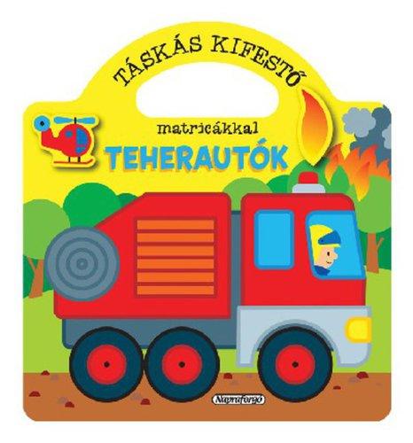 Könyv - Táskás kifestő - Teherautók