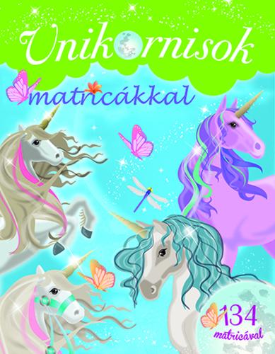 Könyv - Unikornis matricákkal - Zöld