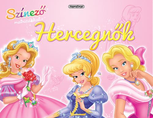 Könyv - Színező matricákkal - Hercegnők
