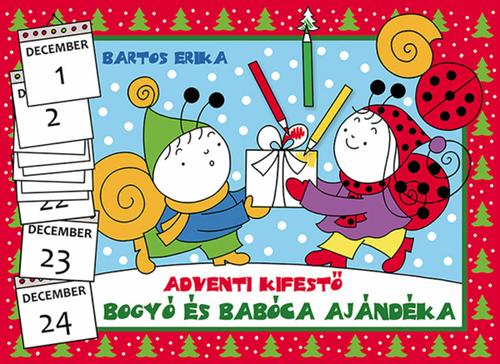 Könyv - Bogyó és Babóca ajándéka - adventi kifestő