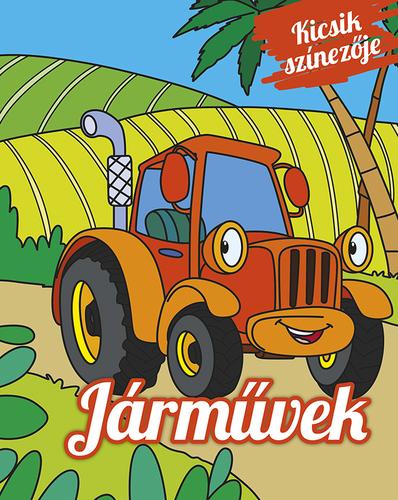Könyv - Kicsik színezője - Járművek