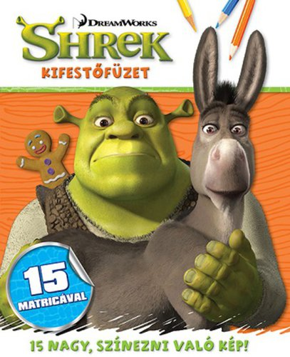 Könyv - Shrek - kifestőfüzet