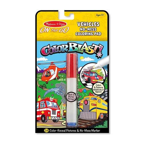 Melissa and Doug Kreatív játék - Színrobbanás színező füzet - Járművek #5498