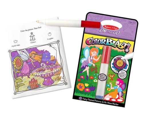 Melissa and Doug Kreatív játék - Színrobbanás színező füzet - Tündérek #5355