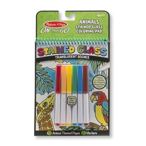 Melissa and Doug Kreatív játék ólomüveg színező - állatok #30300
