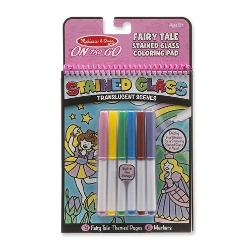 Melissa and Doug Kreatív játék ólomüveg színező - tündérek #30301