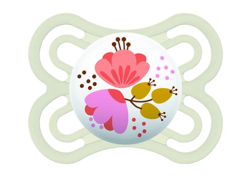 Mam Perfect játszócumi #2-6h #fehér virágos #924552 2021