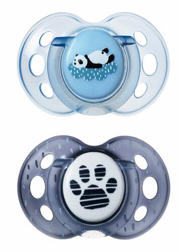 Tommee Tippee Anytime játszócumi #18-36hó #2db #kék panda #43348610-334862