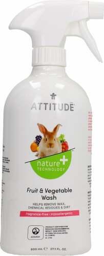 Attitude Zöldség és gyümölcs tisztítószer 800ml #05128