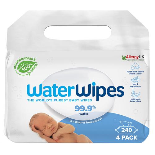 WaterWipes BIO Nedves törlőkendő #4x60db