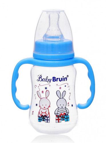 Babybruin polipropilén cumisüveg fogóval #125ml #kék nyuszis #55042882-114166