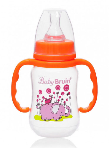 Babybruin polipropilén cumisüveg fogóval #125ml #narancs elefántos #55042882-114166