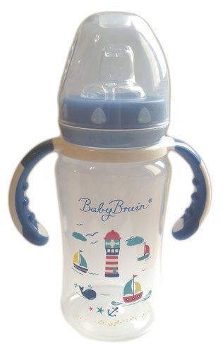 Babybruin szélesnyakú cumisüveg PP #300ml #kék #55043215-118621