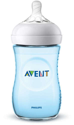 Avent Natural cumisüveg 260ml #kék