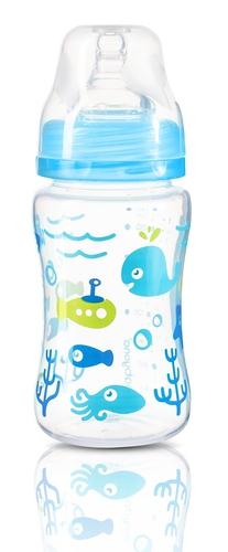 Babyono cumisüveg szélesnyakú anticolic #240ml #kék #403-406212