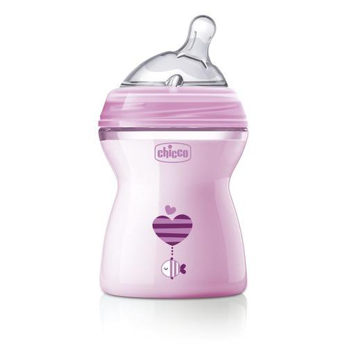 Chicco Cumisüveg közepes folyású NaturalFeeling 2h 250ml pink #CH08082511