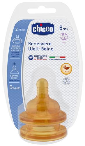 Chicco Latex Wellbeing gyors folyású etetőcumi #2db #6m #CH0208542