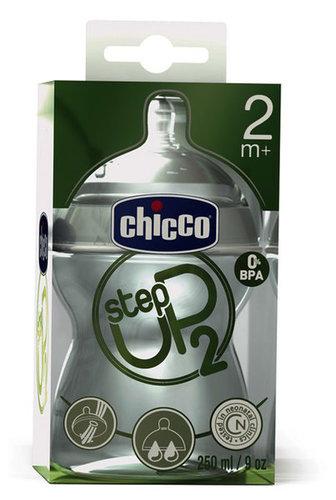 Chicco Step Up 2 cumisüveg 250 ml szilikon etetőcumival