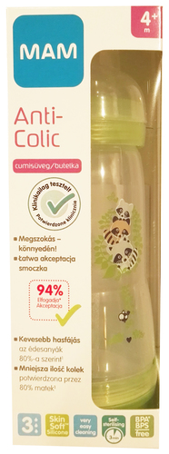 Mam Anticolic cumisüveg 320ml #zöld #676642