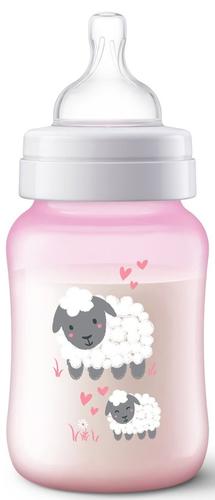 Philips Avent Anti-colic cumisüveg #260ml #rózsaszín bárány