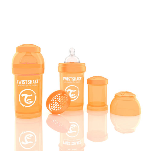 Twistshake Cumisüveg anti-colic 180ml Narancs #78003