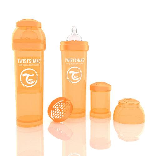 Twistshake Cumisüveg anti-colic 330ml Narancs #78015