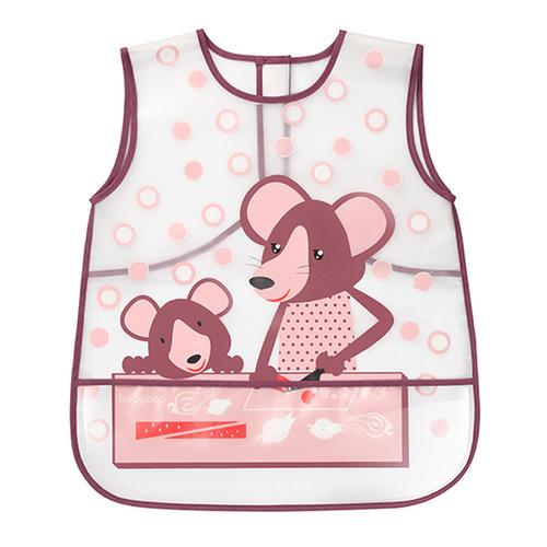 BabyOno Előke fólia 36h Egerek pink #840-407158