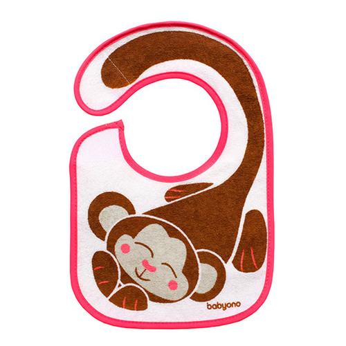 Babyono Előke frottír vízálló réteggel #kicsi majom #831-407615